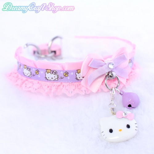 12 Inch Pink and Lavender HK Collar