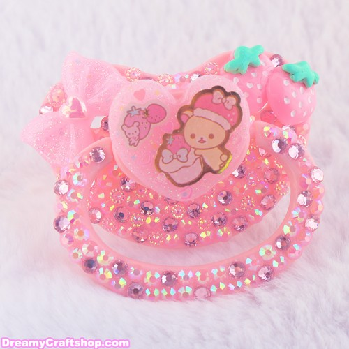 Adult Pacifier Strawberry Korilakkuma