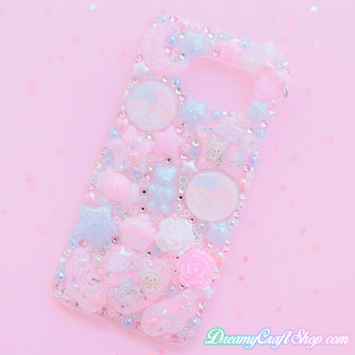 Galaxy s7 Edge Kawaii Rhinestone Phone Case