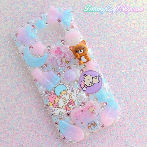 Galaxy s7 Kawaii Rhinestone Phone Case