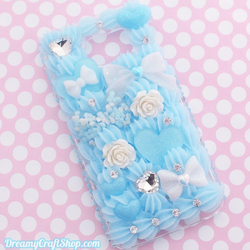 Galaxy S6 Edge Lovely Blue Whip Phone Case