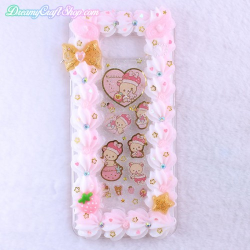 Galaxy S8 Plus Korilakkuma Whip Border Phone Case
