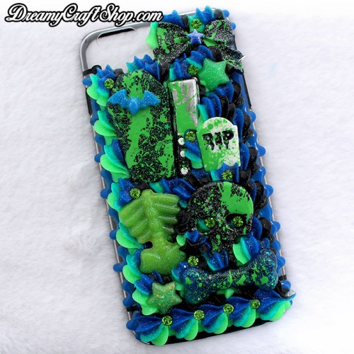 iPhone 6/6s Plus Green Blood Splatter Whip Phone Case