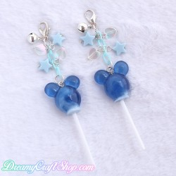 Mickey Lollipop Phone Charm (Blue)