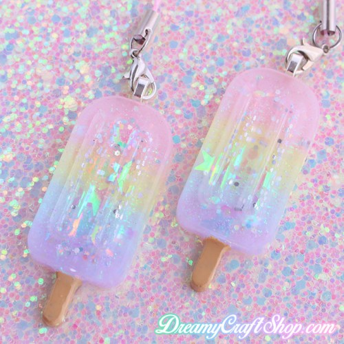 Rainbow Popsicle Phone Charm