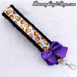 Candy Corn Faux Fur Wrist Strap
