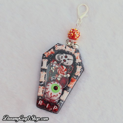 Bloody Coffin Shaker Phone Charm