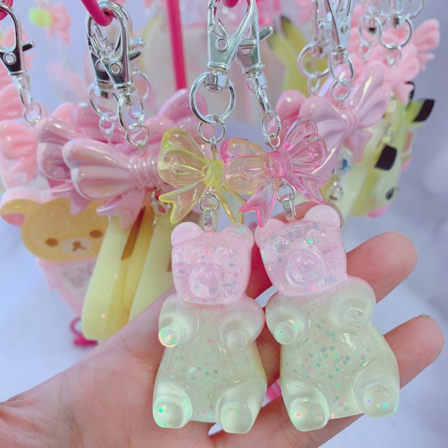 Pink/Yellow Gummy Bear Charm