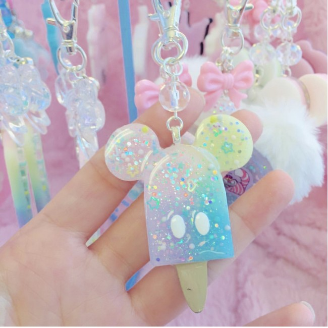 Mickey Rainbow Popsicle Charm