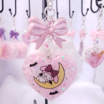 My Melody Spooky Heart Charm