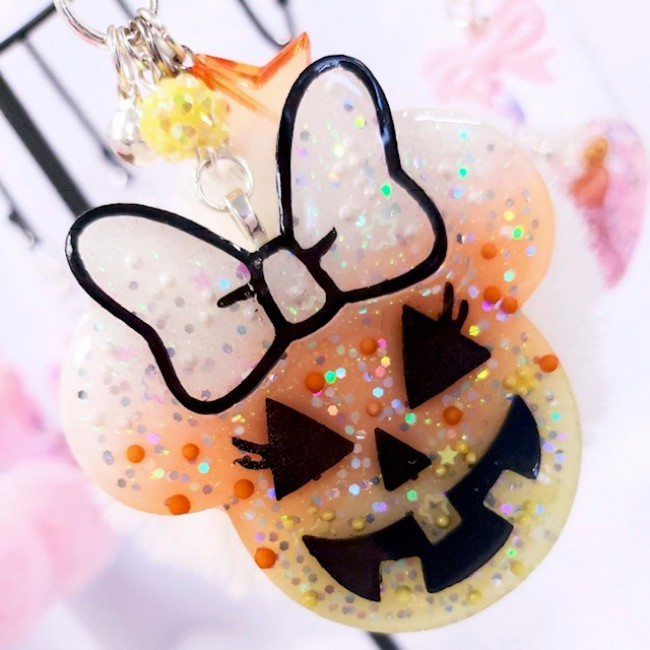 Minnie Candy Corn Fur Charm