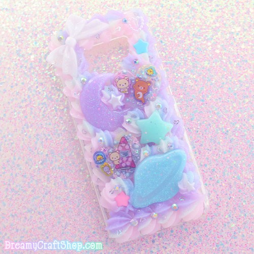 Galaxy S8 Rilakkuma Space Whip Phone Case