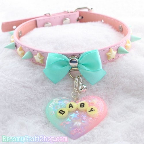 11-15 Inches Kawaii Spiked Baby Collar