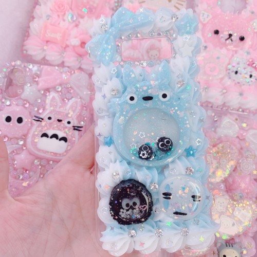 Galaxy S8 Blue Totoro Whip Case