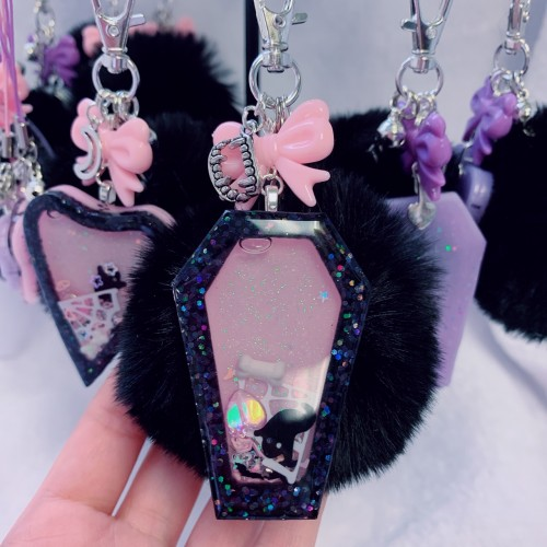 Coffin Shaker Faux Fur Charm