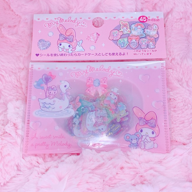 My Melody Stickers (With Pouch)