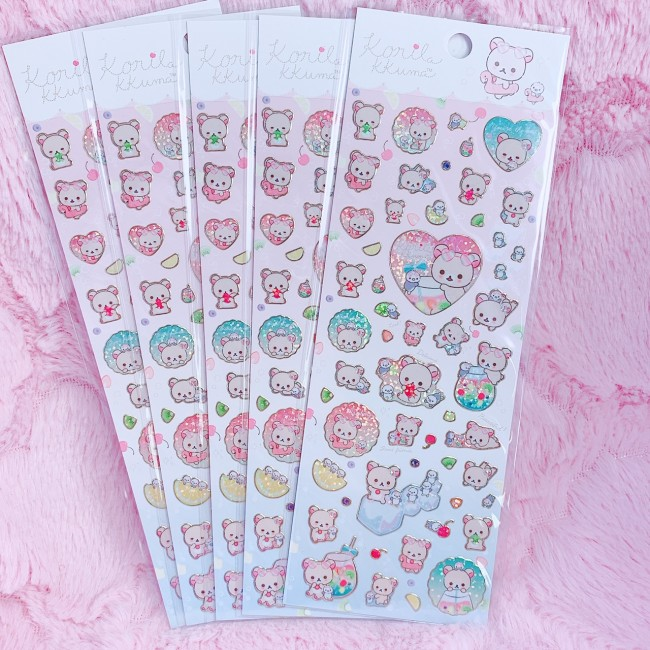 Korilakkuma Summer Vacation Sticker Sheet