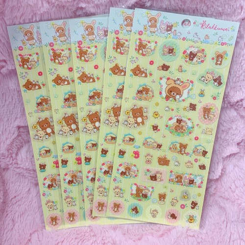 Rilakkuma Rabbits Sticker Sheet (Yellow)