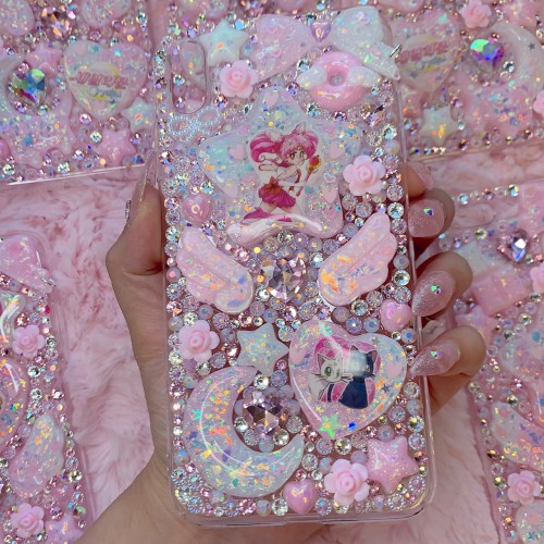 iPhone XS MAX Chibi Moon Rhinestone Case
