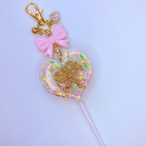 Cherub Heart Lollipop Charm