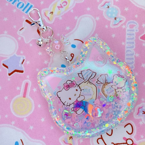 Hello Kitty Large Cat Head Shaker Charm