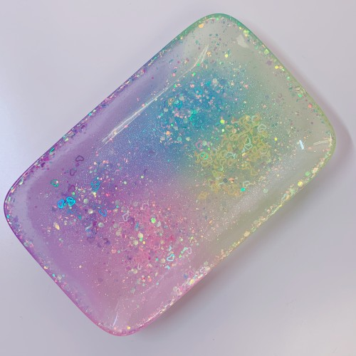 Glow Pastel Rainbow Rectangle Tray
