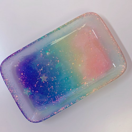Glow Rainbow Rectangle Tray