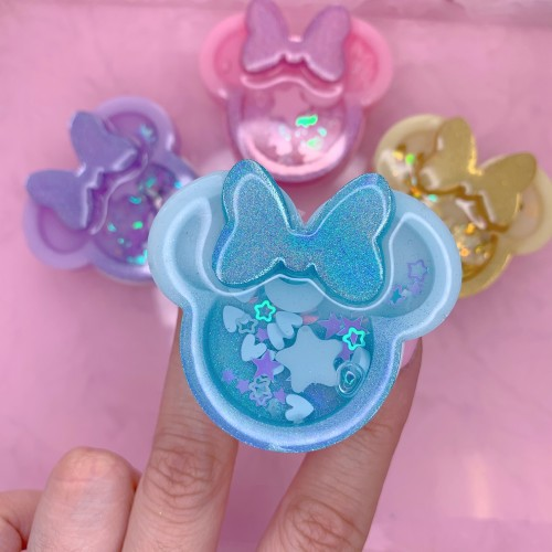 Blue Holographic Minnie Mouse Shaker Grip