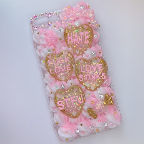 iPhone 7/8 Plus Pink Conversation Heart Whip Case