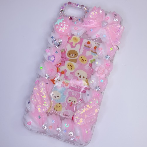 iPhone 7/8 Rilakkuma Rabbits Border Case