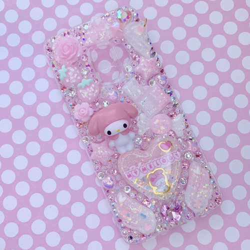 Galaxy S9 My Melody Figure Rhinestone Case