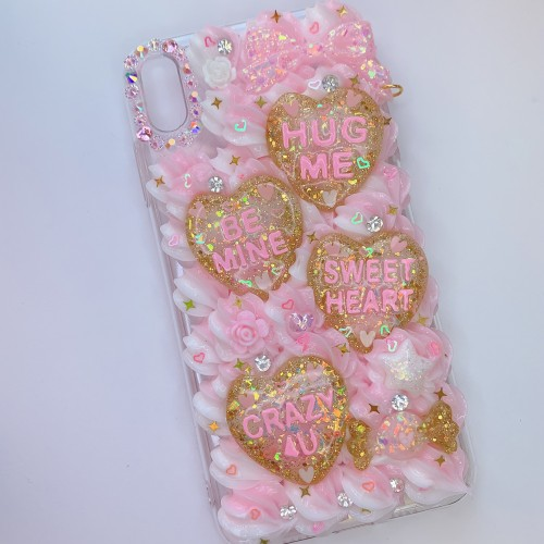 iPhone XS Max Pink Conversation Hearts Case
