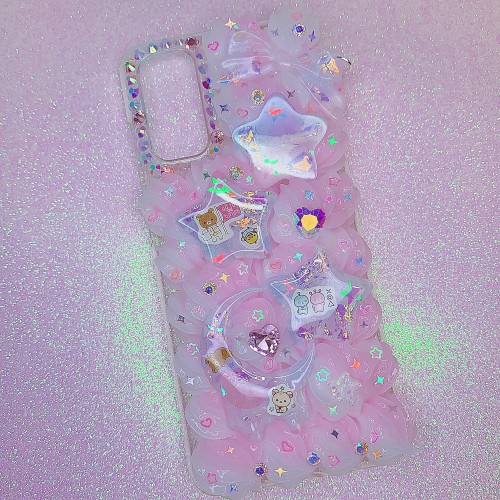 Galaxy S20 Glow Rilakkuma in Space Case