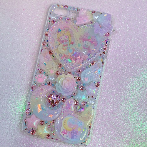 iPhone 7/8 Plus Sailor Moon X My Melody Rhinestone Shaker Case