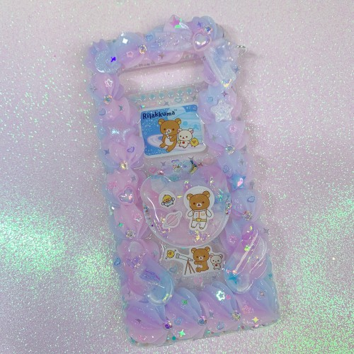 Galaxy S10 PLUS Glow Rilakkuma Grip Case