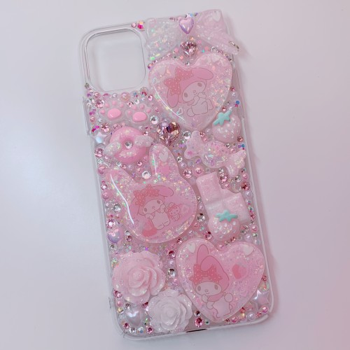 iPhone 11 Pro Max My Melody Strawberry Rhinestone Case