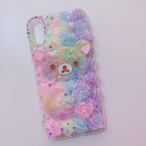 iPhone X/XS Rilakkuma Rainbow Whip Case