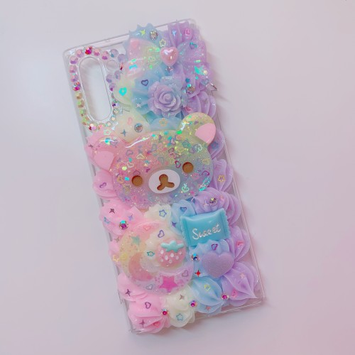 Galaxy Note 10 Rilakkuma Rainbow Whip Case