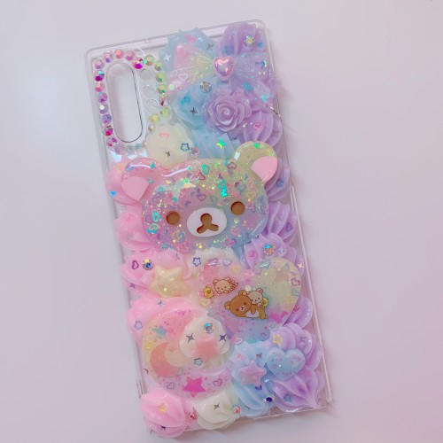 Galaxy Note 10 Plus Rilakkuma Rainbow Whip Case