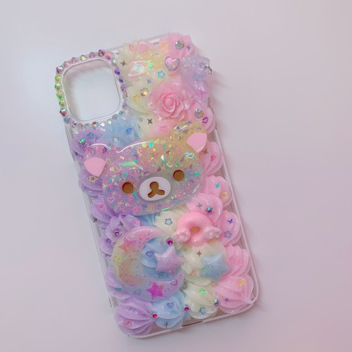 iPhone 11 Rilakkuma Rainbow Whip Case