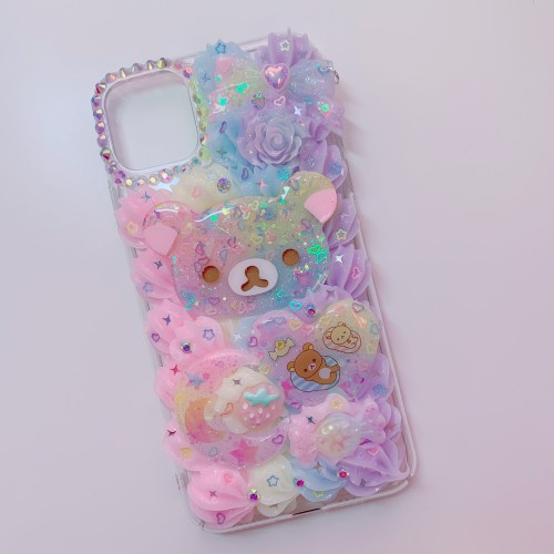 iPhone 11 Pro Max Rilakkuma Rainbow Whip Case