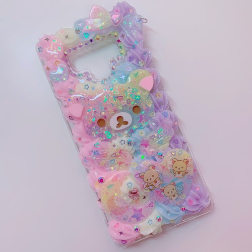 Galaxy Note 9 Rilakkuma Rainbow Whip Case