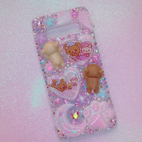 Galaxy S10 Plus Rilakkuma Sleepy Time Rhinestone Case