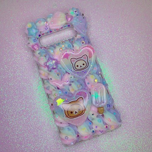 Galaxy S10 Rilakkuma Neko Rainbow Whip Case