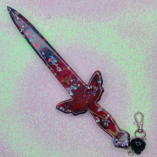 Red Floral Death's Head Moth Dagger SHAKER