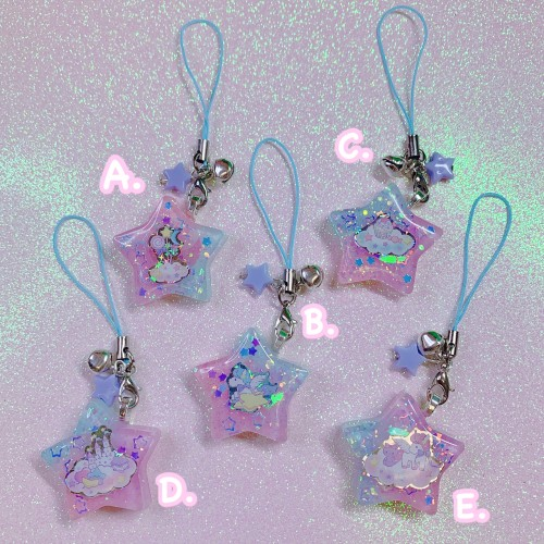 Kawaii Star Strap Charm