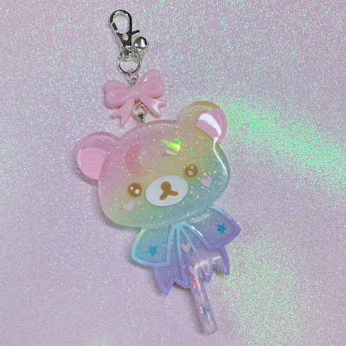 Rilakkuma Large Lollipop Charm Rainbow