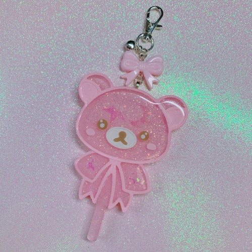 Rilakkuma Large Lollipop Charm Pink