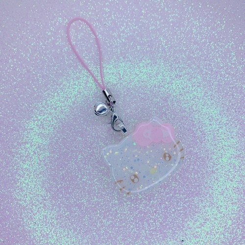 Hello Kitty Face Strap Charm