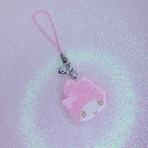 My Melody Face Strap Charm